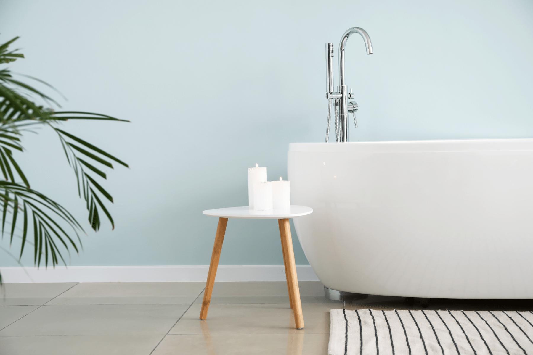 Close-up of a modern bath tub