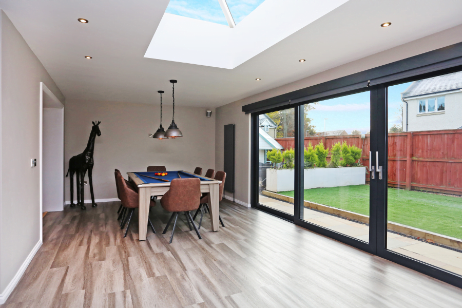 House extension with pool table