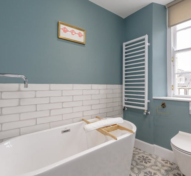 Young Street bathroom tub