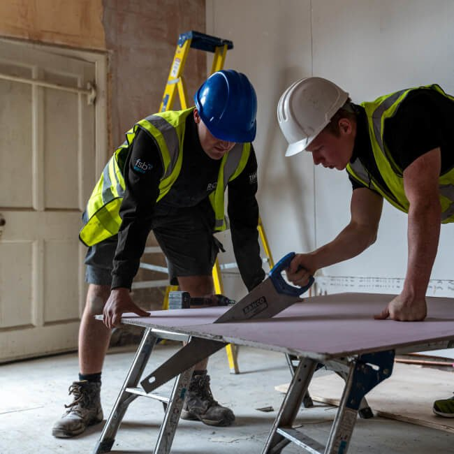 Sawing on site